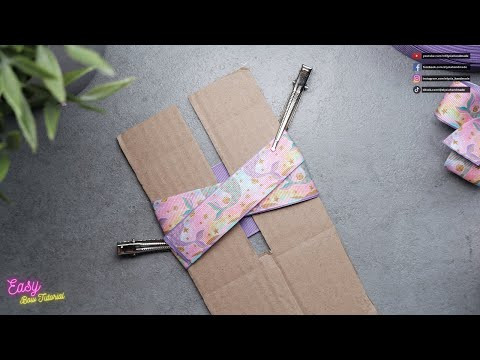 [ASMR] Ribbon Bows step by step - Cute purple bow with DIY bow maker #ElysiaHandmade