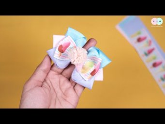DIY Hair Clips / Hair Tie Ideas For Baby Girl - Easy Step by Step By Elysia Handmade #16