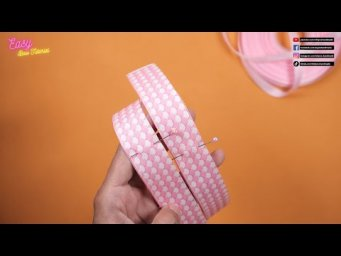 DIY Hair Accessories - Amazing Mini Pink Bow For Your Daughter - Elysia Handmade