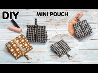 DIY MINI ZIPPER POUCH/ How to make a cute pouch/ Easy sewing tutorial [Tendersmile Handmade]