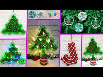 5 Low budget Christmas Craft idea with waste plastic bottle |Best out of waste Christmas craft idea