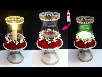 How to make Tealight Holder from Plastic Bottle| DIY home decoration ideas