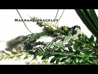 MACRAME BRACELET | LEAVES AND VINE | MYOW 267