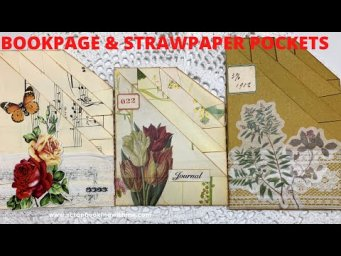 BOOK PAGE & STRAW PAPER POCKETS ~ TRIPLE STACKED POCKETS ~ EASIEST POCKET YOU WILL EVER MAKE