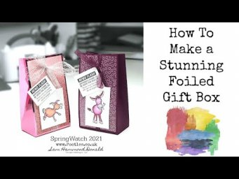 HOW TO Make a Stunning Foiled Gift Bag to WOW! SPRINGWATCH 2021