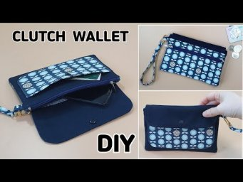 DIY CLUTCH WALLET WITH 4 POCKETS/ Phone pouch bag/ sewing tutorial [Tendersmile Handmade]