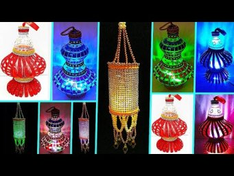 3 low budget lantern with plastic bottle | DIY lantern using recycled materials | lantern for Diwali