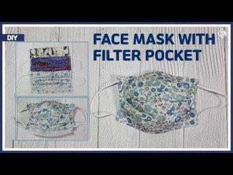 DIY/ How to make a face mask with filter pocket/ 3D MASK/ 필터를 교체할 수있는 마스크만들기/ filter replacement/
