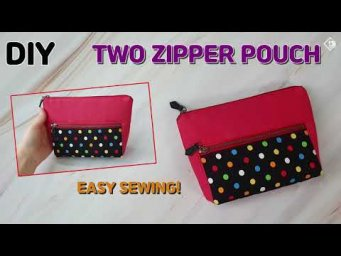 DIY/ DOUBLE ZIPPER POUCH/ MINI CLUTCH/ Makeup bag/ Easy sewing tutorial [Tendersmile Handmade]