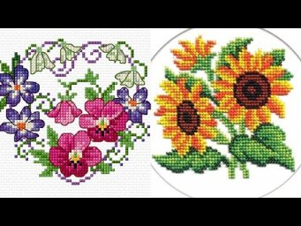 Beautiful Cross Stitches Pettern Easy Counted Chaar Suti Embroidery Design Gorgeous Ideas