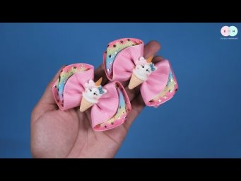 DIY Hair Clips / Hair Tie Ideas For Baby Girl - Easy Step by Step By Elysia Handmade #10