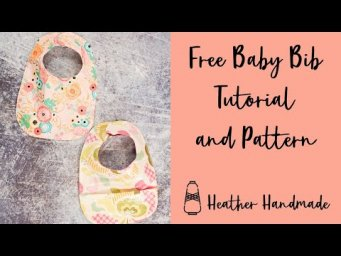 DIY Baby Bib Tutorial with a Free Sewing Pattern - Easy Baby Gift!