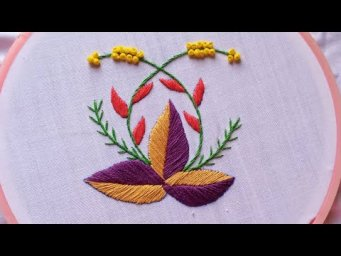 simple but beautiful fantasy flower embroidery_easy embroidery_Beautiful Flower Embroidery Design