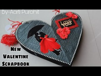 Valentine scrapbook||New Black And Red Valentines Day special gift Scrapbook||Best Valentine Gift