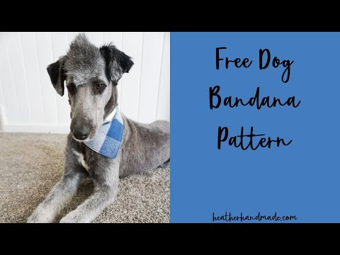 How to Make a Dog Bandana - Free Dog Bandana Sewing Pattern