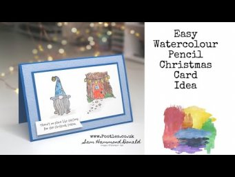*HOW TO WATERCOLOUR* Easy Watercolouring with Pencils *CHRISTMAS CARD IDEA*