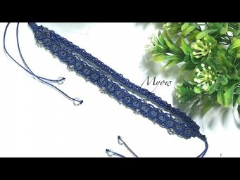 HOW TO MAKE A SIMPLE MACRAME BRACELET WITH BEADS - MYOW 153
