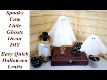 Quick Easy Halloween Neutral Modern Farmhouse Decor / Spooky Ghosts DIY / MomDas Life Handmade