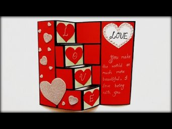 Easy Handmade Valentines Day Card Idea | How to make Valentines Day Card | Tutorial
