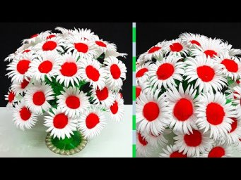 DIY-flowers Bouquet/Guldasta made with Empty Plastic bottle & Paper |DIY-room decoration idea