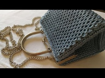 "VIDEO TUTORIAL Pochette ""STAR"" Punto CANESTRO Allungato INCROCIATO / Mel C Bags Handmade"