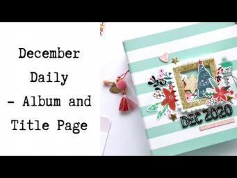 December Daily: Album and Title Page