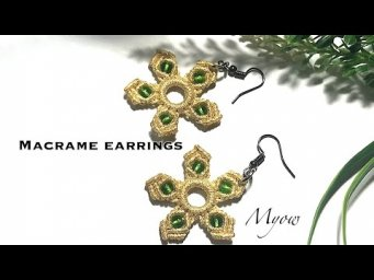 MACRAME EARRINGS | FLOWER EARRINGS WITH SIMPLE KNOTS | MYOW 252