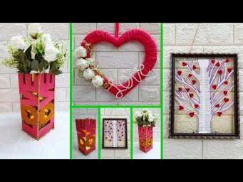 3 Valentine craft  made with recycled material on low budget| DIY valentine day Craft ideas (Part8)