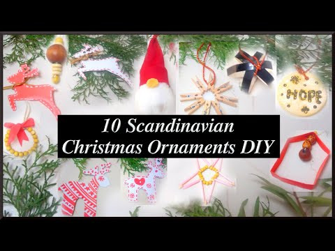 Easy Scandinavian Christmas Ornaments DIY for Beginners