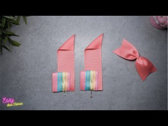 DIY Creative Art | Ribbon Bow ties Ideas - Elysia Handmade