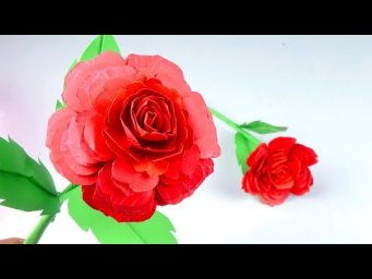 How to Make Beautiful Flower with Paper - Making Paper Rose Flowers Step by Step - Handmade Craft