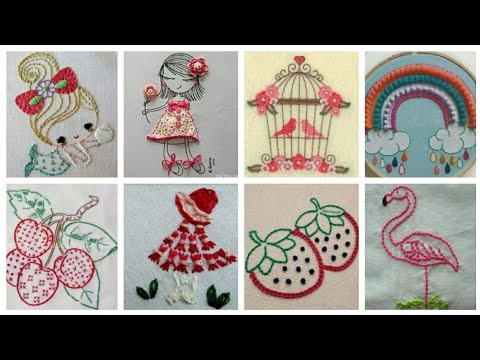 Hand Embroidery Designs / Flower designs for baby and kids dresses
