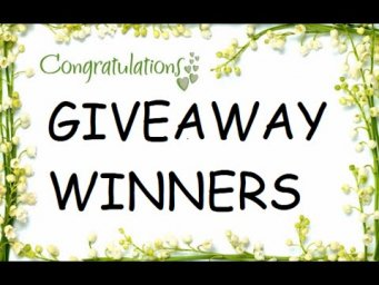 GIVEAWAY WINNERS ANNOUNCEMENT | HANDMADE CARDS IDEAS