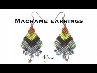 MACRAME CHEVRON BOHO EARRINGS - MYOW#114