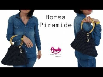 Tutorial Summer BAG CROCHET   Borsa Piramide uncinetto