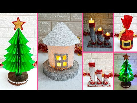 Economical 4 Easy Christmas Craft idea | Best out of waste Low budget Christmas craft idea (Part 17)