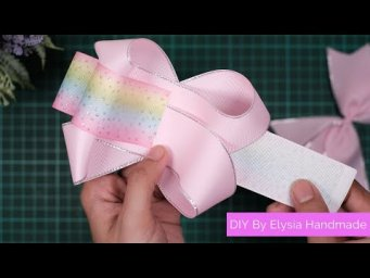 Laço Boutique Embutido Two Loops | DIY Crafts - How to Make Simple & Easy Ribbon Bow For a Beginner