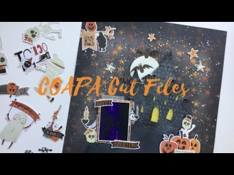 12x12 Scrapbook Process - Happy Haunting