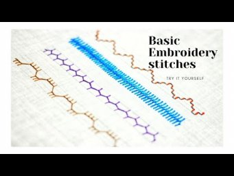 Hand Embroidery Stitches for beginners. Malayalam tutorial 17. Variations of Cretan stitch