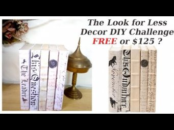 Designer Books One King's Lane Inspired Decor DIY for FREE Look for Less Challenge Dupe Hack