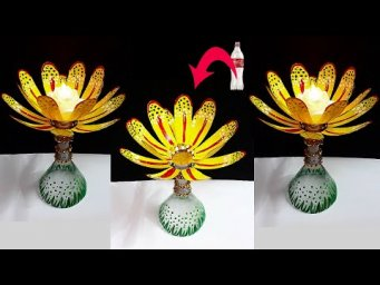DIY- New Showpiece/Tealight holder made from Plastic Bottle| Best out of waste home decoration idea
