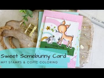 A Sweet Somebunny Card | Copic Coloring + Patterned Paper | MFT Stamps
