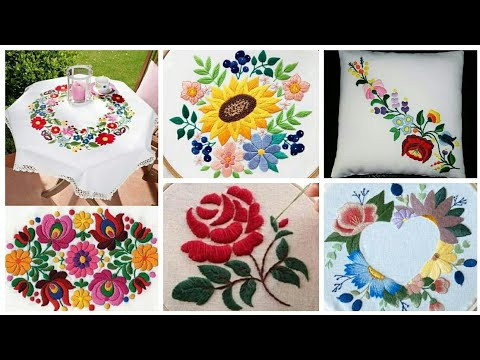 Hand Embroidery Cushion / Pillow / Sofa Cushion / Tablecloth Design