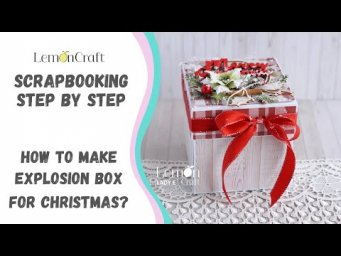 Polskie napisy!  How to make exploding box for Christmas? Free step by step tutorial with Lady E.