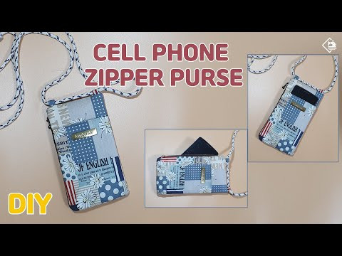 DIY CELL PHONE ZIPPER PURSE/ Phone Pouch Bag/ Fisherman's Knot /  sewing tutorial [Tendersmile]
