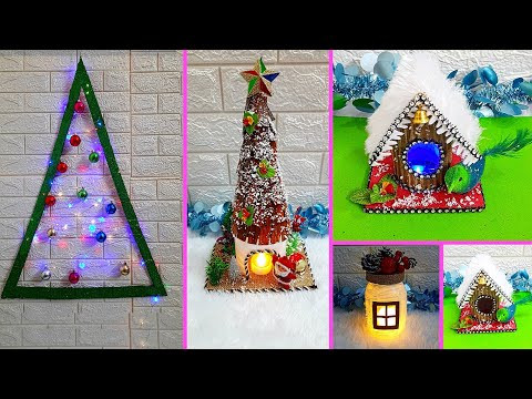 4 Economical Christmas Craft idea | Best out of waste Low budget Christmas craft idea (Part 30)