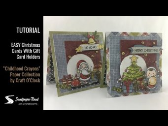 TUTORIAL | EASY Christmas Cards With Gift Card Holders | Sandpaper Road
