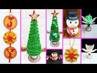 Economical 5 Easy Christmas Craft idea | Best out of waste Low budget Christmas craft idea (Part 1)
