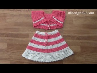 Crochet ruffle skirt tutorial (Eng sub)