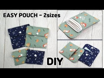 DIY EASY POUCH MAKING/ Sanitary Pad Pouch/ Card purse/ sewing tutorial [Tendersmile Handmade]